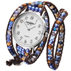 Denim Lover, Silver – Denim-Lover-Triple-Wrap-Womens-Watch