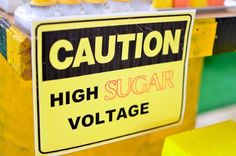 Caution High Sugar Voltage (dessert table sign) from a Construction Birthday Party on Kara's Party Ideas | KarasPartyIdeas.com (29)