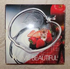 Glass Apple Shaped Bowl Fruit/Candy by Home Beautiful #HomeBeautiful