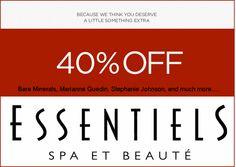 JULY2013 Essentiels 40% Off Sale