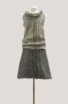 MALVAR = STEWART   Eco Fashion Made from salvaged fine visage fabric and local wool and natural dyes.