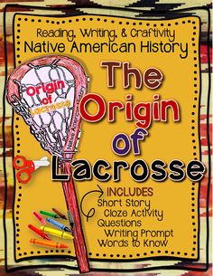 Native American History: The Origin of Lacrosse, Craftivit Native American Lessons, Native American Literature, Native American History, Teaching Social Studies, Teaching Resources, Cloze Activity, Pe Ideas, Thanksgiving, Writing Words