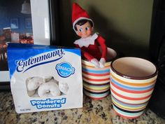Our Elf on the Shelf is back!! Say hello to Buddy, he'll be with us through Christmas!