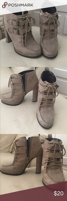 Platform booties perfect for 🍂🍁 Platform booties. With decorative buckles and laces Mossimo Supply Co. Shoes Ankle Boots & Booties