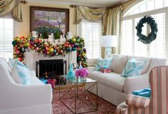 50 Christmas decorating ideas to create a stylish home--LOVE THIS GARLAND