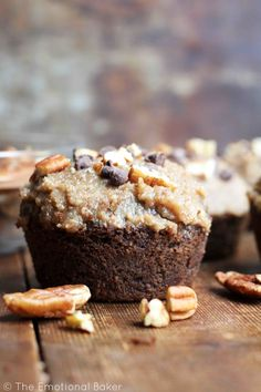 Get your chocolate and coffee fix with a Mocha Pecan Cupcake featuring white whole wheat flour, maple syrup and coconut oil.