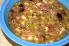 5 bean soup with ham!!