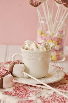 malted hot chocolate mix, marshmallow stir sticks