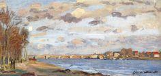 The Siene at Argentuil by Claude Monet — Found via Artful for Mac — http://artfulmac.com