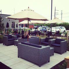 Outdoor seating at Mermaid Winery!