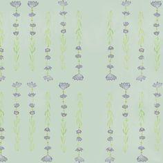 Fototapet personalizat Lavender Visions, din colecția Vegetal Chimera, creată de ilustratoarea română Sânziana Toma-Dănilă.