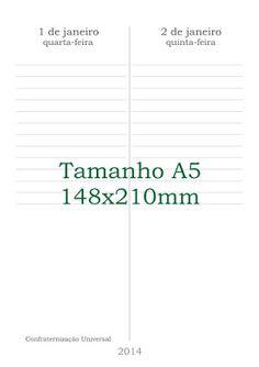 canteiro de alfaces - livros artesanais:  agenda 2014 para imprimir!