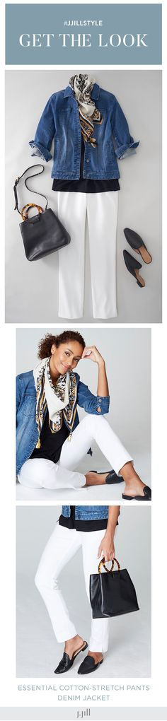 3a6c15274bd J.Jill Get the Look. J.Jill Spring style with a denim jacket