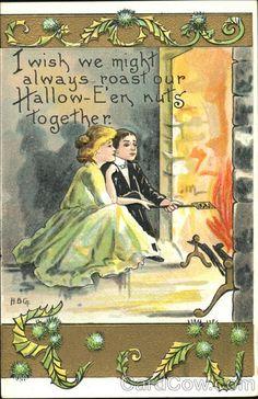 h. b. griggs postcards | Roasting Nuts H.B. Griggs (HBG) Halloween H. B. Griggs (HBG)