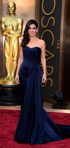 2014 THE 86th OSCARS ACADEMY AWARDS Red Carpet - Sandra Bullock wearing ALexander Mcqueen