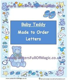 Teddies  Made To Order  Colouring Sheets By Letters Full Of