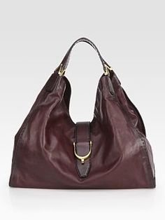8886cc67b2e Gucci - Soft Stirrup Large Shoulder Bag Burnished Leather Cheap Handbags
