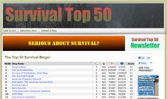 top 50 survival blogs