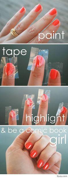 Ha! This is cute! Comic nails