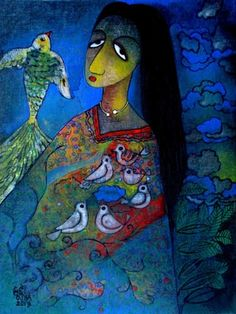 Mithu Basu: Dolna recommends a great way to stART each day. Click for more information about artist Ratnakar Ojha and details of his works.