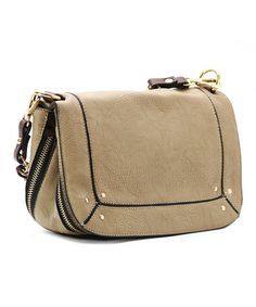 Khaki & Black Ava Crossbody Bag by Robert Matthew #zulily #zulilyfinds