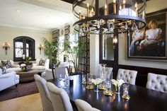 Dining Room with wood paneled wainscot and modern style - traditional - dining room - san diego - by Robeson Design