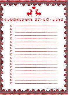 Free printable - Christmas To-do List