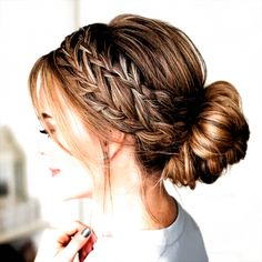 Easy Hairstyles For Medium Hair, Box Braids Hairstyles, Braids For Long Hair, Prom Hairstyles, Easy Updos For Long Hair, Hairstyles For Nurses, Easy Elegant Hairstyles, Hairstyle Ideas, Short Cuts