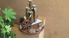 Fuente de Agua con cañas de bambú