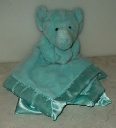 Small Wonders Lovey Aqua Elephant Blanket Blankey Plush Stuffed Animal  This Item is for sale at LB General Store http://stores.ebay.com/LB-General-Store