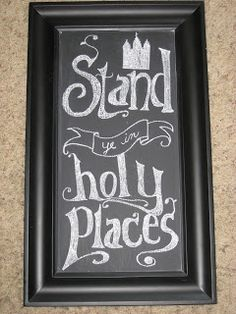 For the Young Women Stand in Holy Places Chalkboard