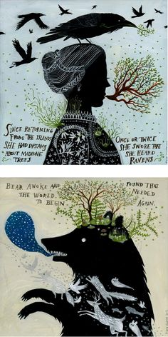 by Diana Sudyka Illustration Inspiration for Children's book. Loving the contrast and silhouettes here!