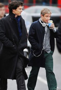 Ben and Martin on set