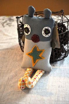 Tooth monster! So adorable! Tooth Monster Pillow by byjunie on Etsy