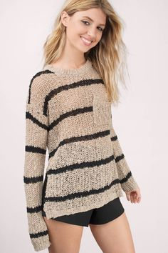 Cambria Striped Knit Sweater at Tobi.com #shoptobi