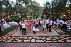 if i could only talk my dad into making this outdoor dance floor...i might have my wedding at their house :)