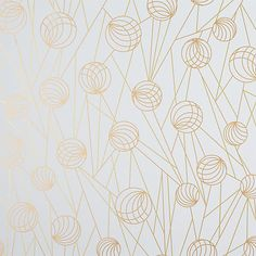 pinball gold self-adhesive wallpaper in view all wallpaper | CB2