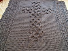 This pattern is for a crocheted afghan that forms the shape of a celtic cross. The yarn is good value and produces a nice warm throw.