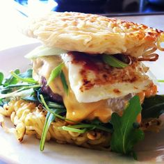 Burgers with an Asian twist, served on fried ramen buns. That's using your noodle! #ramenburger
