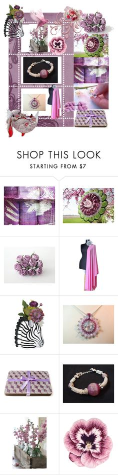 """""""Lilac Varieties"""" by anna-recycle ❤ liked on Polyvore featuring Nourison, modern, rustic and vintage"""