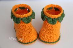 Crochet baby booties baby shoes boots Halloween от editaedituke, £9.00