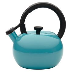 @Overstock.com - Circulon 'Circles' Capri Turqouise 2-quart Tea Kettle - This 8-cup teakettle capacity is generous enough for a medium tea or coffee press, while its modern shape and captivating color add contemporary design to everyday use. A whistle melodically sounds when water reaches a boil. http://www.overstock.com/Home-Garden/Circulon-Circles-Capri-Turqouise-2-quart-Tea-Kettle/8394167/product.html?CID=214117 $29.99