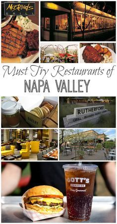 Take it from a local - these are the best restaurants of Napa Valley that you HAVE to try! I have personally eaten at all of them and recommend them to anyone visiting! San Diego, Wild West, Parks, Napa Sonoma, Sonoma Valley, West Coast Road Trip, Napa Valley Wine, California Vacation, Wine