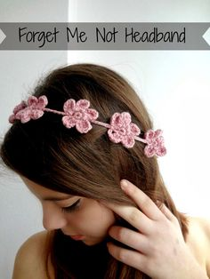 Forget Me Not Headband - free tutorial - Little Treasures