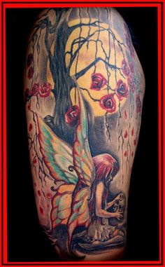 Fairy Tattoos | Forbidden Images Custom Tattoo : Tattoos : Nature Tree : FAIRY LAND !