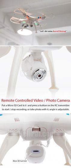 Syma X8C Drone w/ Camera http://www.helipal.com/syma-x8c-drone-w-camera.html
