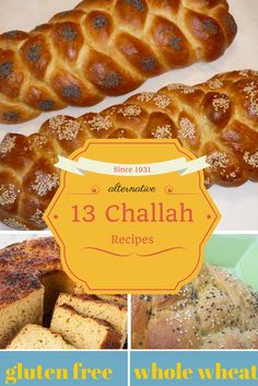 13 Alternative Challah recipes Gluten-free, whole wheat, spelt and many others Kitchen Recipes, Snack Recipes, Cooking Recipes, Flour Recipes, Dinner Recipes, Snacks, Challah Bread Recipes, Spelt Challah Recipe, Hanukkah Food