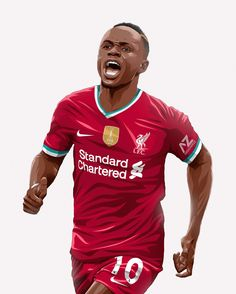 Liverpool Fc Shirt, Liverpool Anfield, Liverpool Football Club, Football Fever, Football Art, Soccer Fans, Soccer Players, Neymar, Sadio Mane