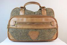 From today's Human, House, Harvey: Vintage Brown Tweed Weekend Luggage Bag or Carry On by Verdi, via Etsy. #humanhouseharvey