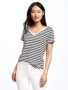 EveryWear Relaxed V-Neck Tee for Women | Old Navy